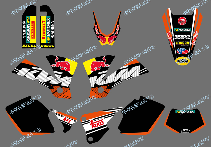 style (0422 Bull ) TEAM GRAPHICS & BACKGROUNDS DECALS FOR KTM EXC 125/200/250/300/400/450/525 2003 - Yongkang Tongshida Industrial Trade Co., Ltd. store