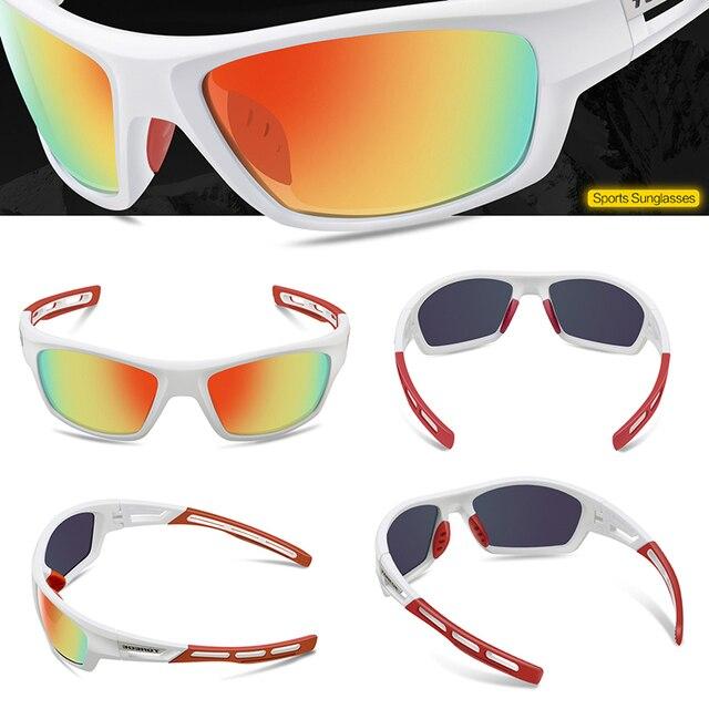 5b644be56c TOREGE Polarized Sports Sunglasses for Men Women Cycling Running Driving  Fishing Golf Baseball Glasses TR90 Unbreakable Frame