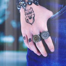 Beier 316L ze stali nierdzewnej mężczyzn nos viking pierścień Vegvisir Amulet Odin runy pogańskich Valknut mit cena hurtowa biżuteria LR604 tanie tanio Moda Pierścionki Mężczyźni Metal Strona TRENDY Okrągły Zespoły weselne Brak