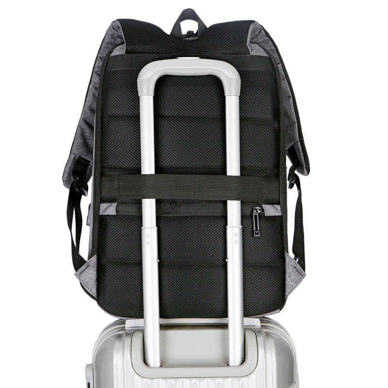 Многофункциональная зарядка через usb Для мужчин модные мужские анти-вор путешествия рюкзак для ноутбука диагональю 15 дюймов рюкзаки для подростков школьные ранцы 2019
