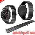 2017 hottest 20mm correa para el engranaje s3 classic frontera smart watch band enlace correa correa de acero inoxidable pulsera para hombres