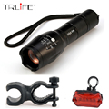 LED CREE XM-L T6 Flashlight 5000Lumens Bike Bicycle Flashlight Torch + Mount Holder + Rear Flash Light