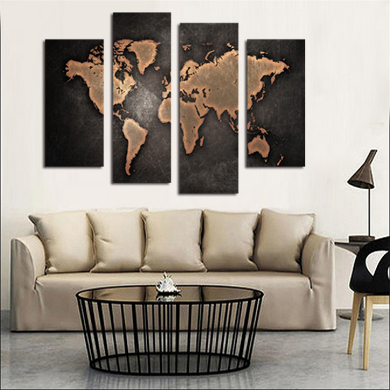 Owl home decor 5pcsset painting world map wall art abstract owl home decor 5pcsset painting world map wall art abstract tapestry world map canvas printed office picture living room decor in tapestry from home gumiabroncs Gallery