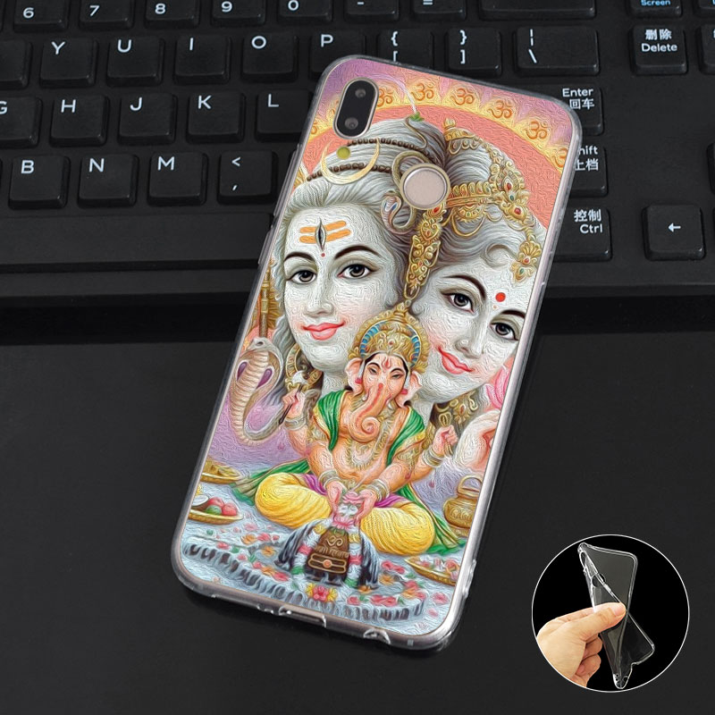 DREAMFOX M229 Ganesha The Hindu God Soft TPU Silicone Case Cover For Huawei Honor 6A 6C 6X 7A 7C 7S 7X 8 Lite Pro in Fitted Cases from Cellphones Telecommunications