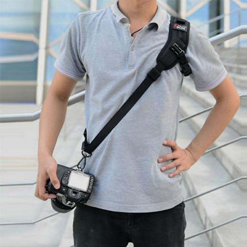 High Quality Focus F-1 Quick Carry Speed Sling soft Shoulder Sling Belt Neck Strap For Camera DSLR Black