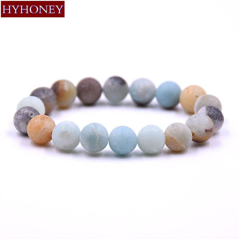 HYHONEY 8MM 10MM unisex Natural Stone bracelets for women Elasticity Stone Beaded bracelet men pulseira masculina