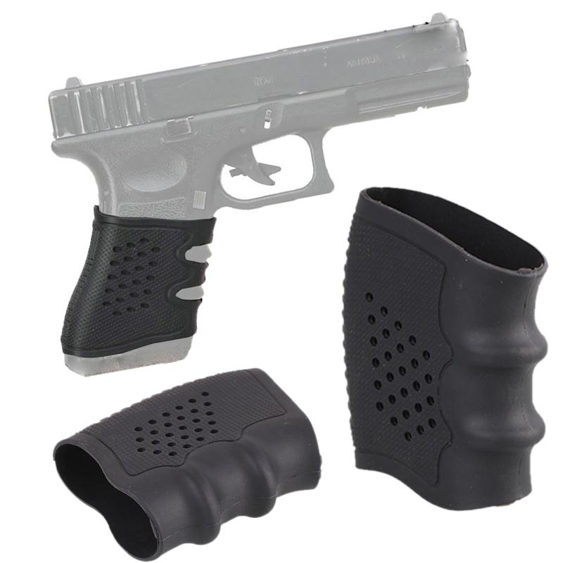 Anti Slip  Tactical Airsoft Hunting Gun Rubber Cover Hand Grip Glove Sleeve For Glock Pistol Handle