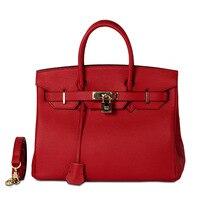 100%Genuine Leather Bags For Womens Luxury Handbags Women Bag Designer Fashion Lock Large Soft Totes Ladys Shoulder Bags Bolsas