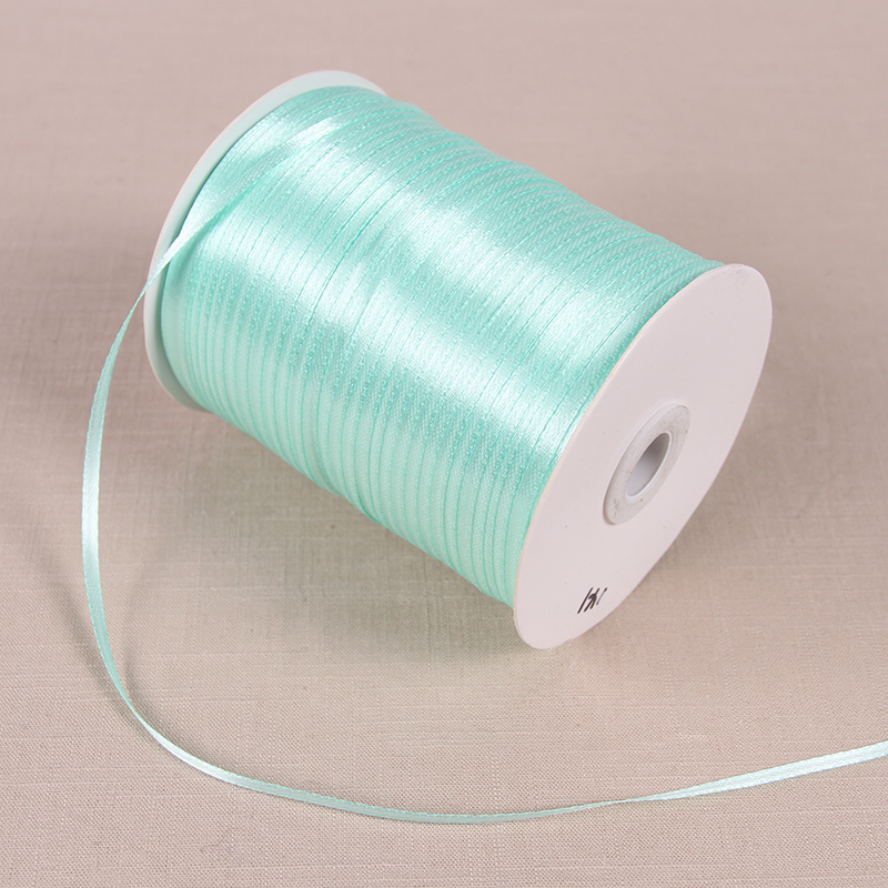 22 м/лот 3 мм атласные ленты для свадьбы День рождения коробка шоколадных конфет подарочная упаковка ленты Рождество Хэллоуин Декор - Цвет: Tiffany Blue