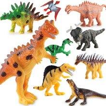 6pcs/lot Anime Dinosaur Toy Set Plastic Dinosaur World Play Toys Dinosaur Model Action Figure Best Gift for Boys