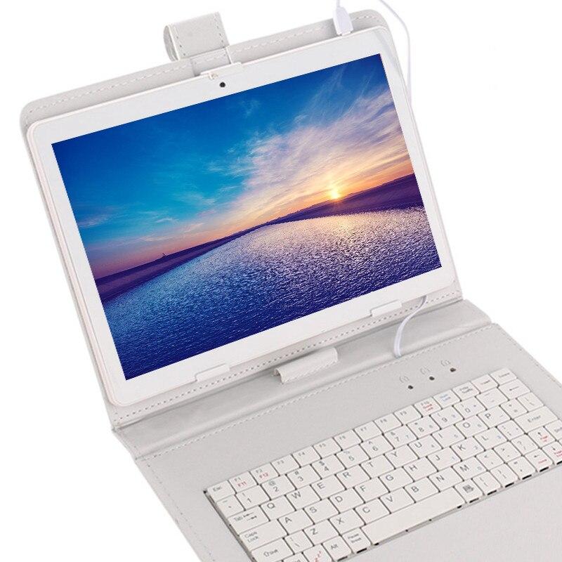 4G LTE tablette pc écran mutlti tactile Android 9.0 Octa Core Ram 6GB ROM 64GB caméra 5MP Wifi 10 pouces enfants tablette peut ajouter clavier