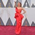 Fahionable One Shoulder Ruffles Long Evening Dress Top Oscars 2017 Red Carpet Dresses Robe De Soiree Courte zl-1