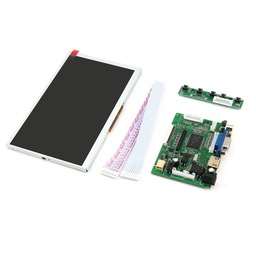 165 100 5 mm 7 Inch Digital Display LCD TFT Shield Display Module HDMI VGA Video Driver Board for Raspberry Pi drop ship in Replacement Parts Accessories from Consumer Electronics