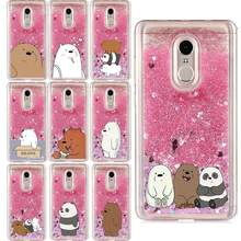 Liquid Water Case voor Samsung Galaxy S5 S6 S7Edge S8 S9 S10 Lite Plus Cartoon Blote Bears Panda Zachte Siliconen cover Telefoon Gevallen(China)