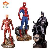 30CM Batman Action Figures Toys Brinquedos Super Hero Spider Man Iron Man Anime Lover Collectible Model Toy Boys Christmas Gift