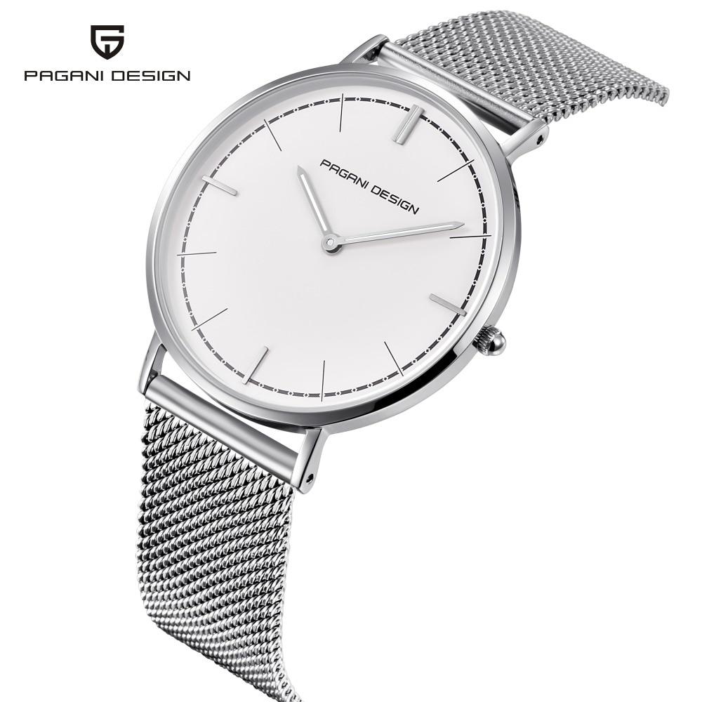 все цены на NEW PAGANI DESIGN Luxury Brand Woman quartz watch stainless steel fashion ultra-thin quartz watch waterproof ladies quartz clock онлайн