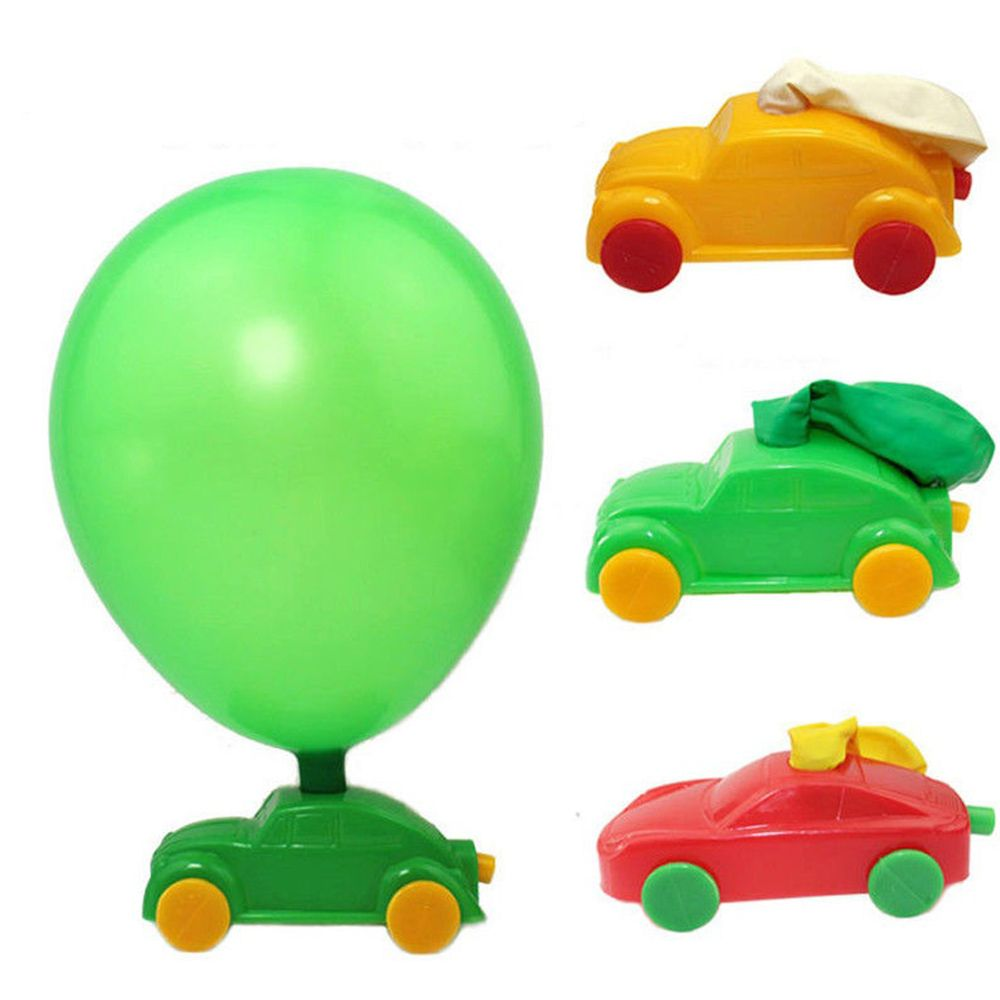 Funny 3pcs/set Science Physical Homemade Balloon Car DIY Plastic Toy Aerodynamic Forces Toy Reminiscent Balloon Car Toy