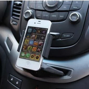Image 5 - INIZEAL Mobile Phone GPS Bracket Stands Car CD port mobile Phone Mount Holder stands Square Kit CD Slot Car Cell Phone Holder