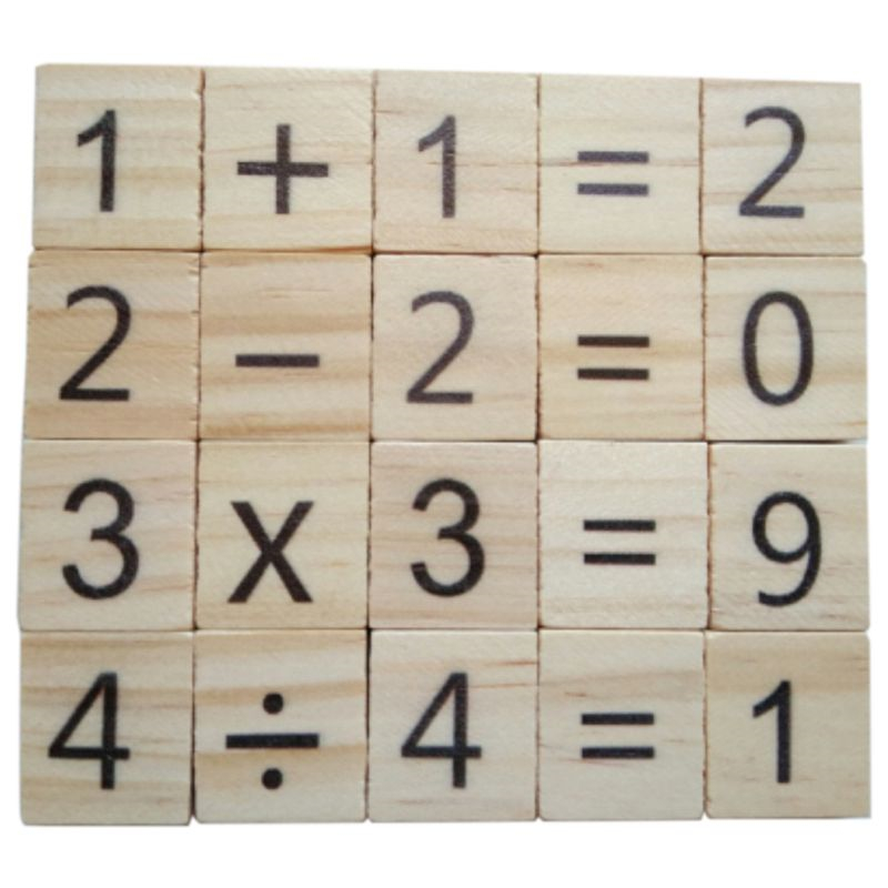 Jigsaw-Puzzles Puzzle-Game Symbol Numbers Scrabble Tiles Early-Educational-Toys Wooden
