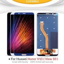5.99 inch LCD Scren For Huawei Honor V10 Display + Touch Screen Digitizer Assembly Replacement For Honor View 10 LCD AAA Quality 100% new mobile phone lcd aaa quality for huawei honor 6 lcd display touch screen with digitizer assembly free shipping