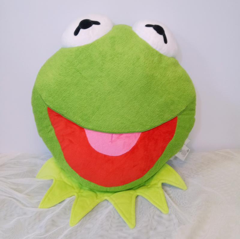 New The Muppets Kermit the Frog Plush Face Cushion Pillow For Girls Boys Kids Stuffed Animals Toys Children Gifts 36CM 2016 hot sale 45cm frog superme dolls pose frog doll plush toys sesame street stuffed animal plush frog 70cm frog for gift