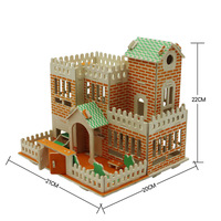 Kids Educational DIY 3D Puzzle Toys Wooden Assembly lovely Cute Garden House Constructions