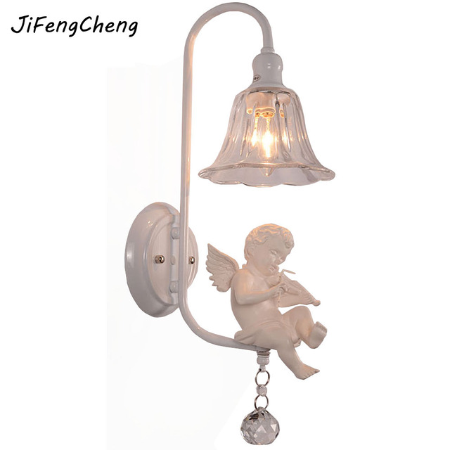 Hghomeart modern fashion angel wall lamp led night light child room hghomeart modern fashion angel wall lamp led night light child room aisle loft lighting decoration wall aloadofball Image collections