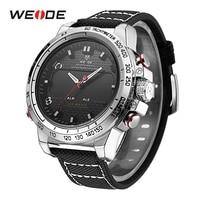 WEIDE Men Sports Watches Alam Date Day Back Light Quartz LED Military Strap Analog Hardlex Wristwatches relojes mujer saat erkek