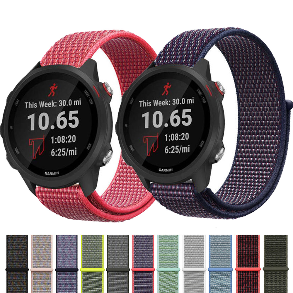 20MM 22MM  Nylon Band  Strap For Garmin Vivoactive3 Band Garmin Forerunner 645/245 Watch Replacement Quick Release Bracelet Belt