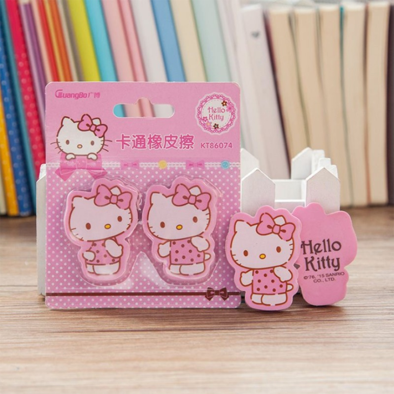 TOPSTHINK Stationery Hello Kitty Pencil Eraser School Supplier Girls стирательная резинка Creative Cute Eraser
