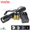 Aluminum Portable XML T6 2000lm LED Zoomable Flashlight 18650 Torch Outdoor lanterna led lampe torche +Charger+Battery
