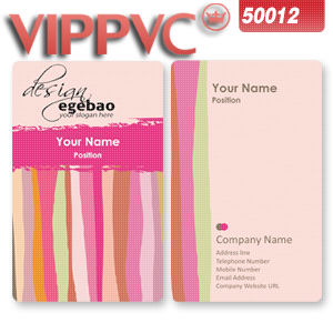 a50012 Cheap plastic card design template for printing business card