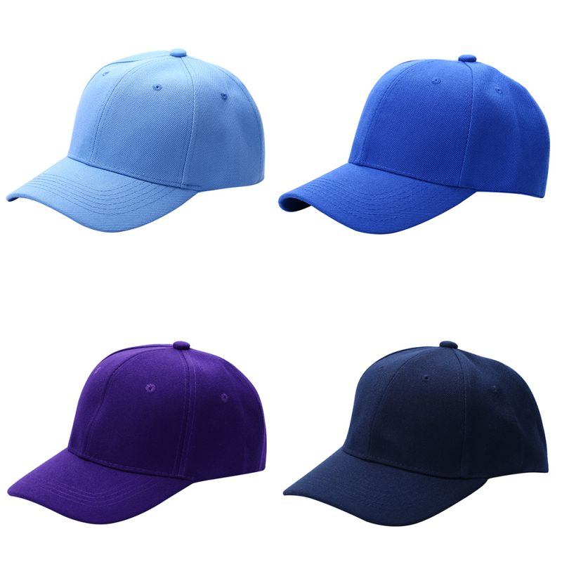Men Women Fashion   Baseball     Cap   Hip-Hop Adjustable Peaked Hat Solid Unisex Curved Visor Hat