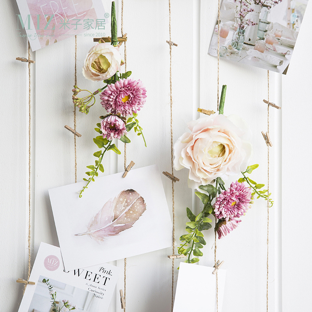 Miz 1 Piece Artificial Flowers Wall Decorations Living Room Wedding Gift  Accessories Flower Clip Curtain Accessories