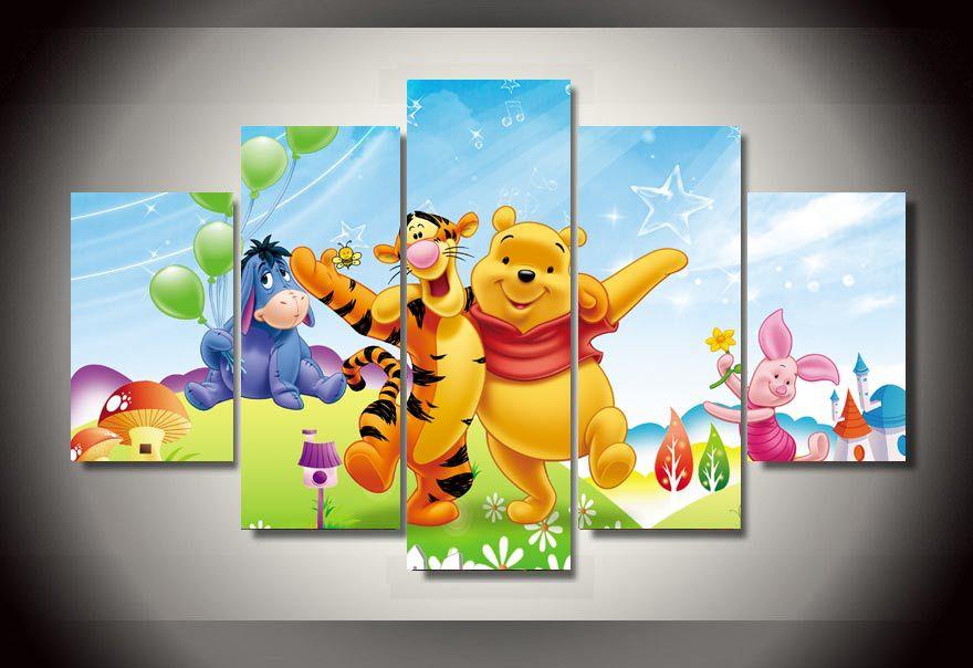 Achetez en gros pooh toile en ligne des grossistes pooh for Decoration murale winnie l ourson