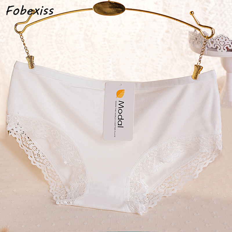 Women   Panties   Bamboo Solid Lace Comfort Ladies Briefs Cute Clever Sexy Girls Underwear Women   Panties