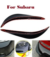 2PCS Car SUV Bumper Stickers Protector 3D Streamline For Subaru Alcyone BRZ Dex Exiga Forester Impreza