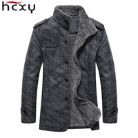 HCXY High Quality Leather Jacket Men New Brand Winter Designer Fashion Stand Collar PU Motocycle Jackets