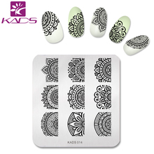 KADS New Trend Nail Art Stamping Plate Pretty Flower Design Nail Art Stamp Polish Print Stencil Manicure Stamp Plate Tool