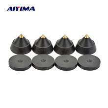 AIYIMA 4sets Active Speaker Spikes Stand Feets Audio Speaker Repair Parts Accessories Turntable 23x19mm DIY For Home Theater(China)