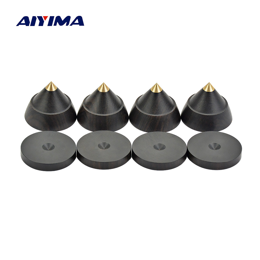 AIYIMA 4sets Active Speaker Spikes Stand Feets Audio Speaker Repair Parts Accessories Turntable 23x19mm DIY For Home Theater