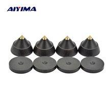 Aiyima 4 conjuntos alto falante ativo spikes estande feets áudio alto falante peças de reparo acessórios turntable 23x19mm diy para o teatro em casa