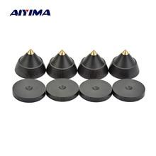 Aiyima 4 sets 액티브 스피커 스파이크 스탠드 피트 오디오 스피커 수리 부품 액세서리 턴테이블 23x19mm 홈 시어터 용 diy
