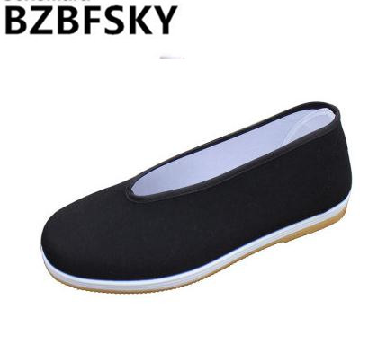 free shipping Chinese traditional craft retro shoes comfortable home flat shoes old Beijing injection round mouth driver shoes old beijing cloth shoes spring and autumn round women s wide stripe flat shoes comfortable shoes free shipping