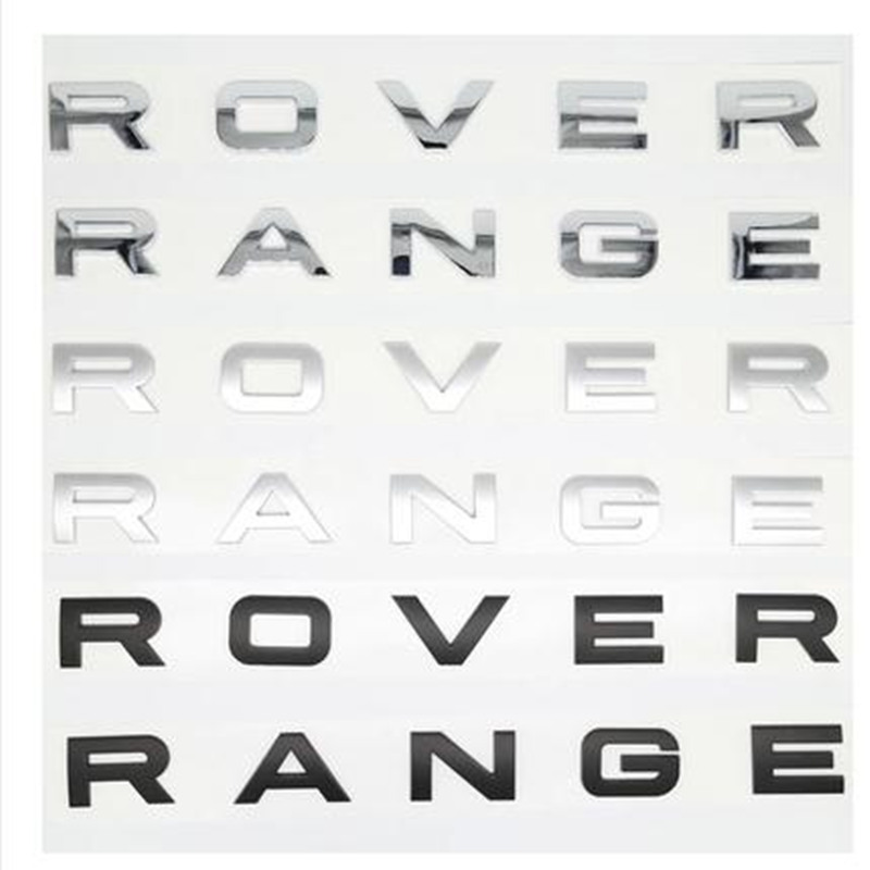 3D Abs Car Styling Real Car Styling Front or Back Car Emblem Cover Sticker Letters Sports Style Case for Range Rover Accessories