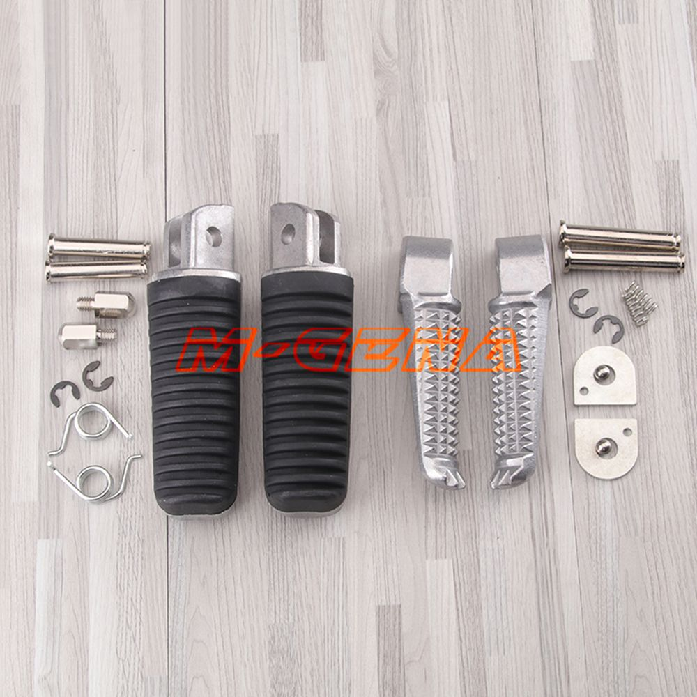 Motorcycle Front Rear Footrests Foot Pegs For Yamaha XJR400 XJR1300 FZ1 FZ6S FZ600 XJ600S FZ400 FZ1000 XJR1200 FZ6