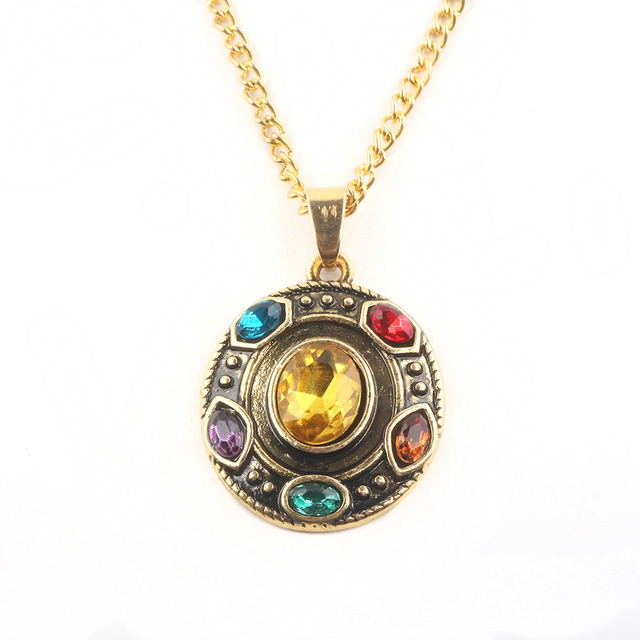 Aliexpress com : Buy Avengers Infinity War Soulstone Thanos Necklaces  Pendant Anello Pulseiras Miracle Crystal for Women and Men fashion jewelry  from