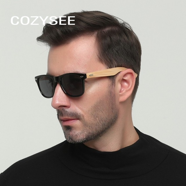 3f7f1c65a8d Trending Bamboo Sunglasses Men Polarized Women Black Sunglass Male UV400  Sun Glasses Travel Goggles Wooden Leg Eyewear Shades