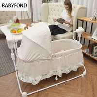 Tong India Small Rocking Crib Table Infant Cradle Bed Electric Cradle