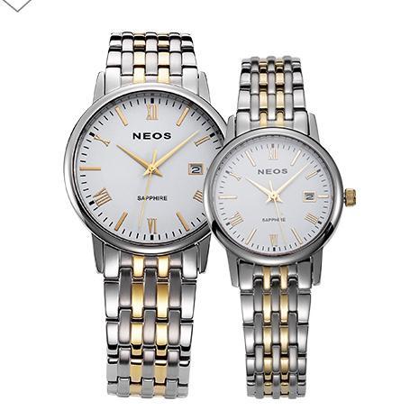 NEOS Brand Stainless Steel Strap Waterproof Quartz Men Watch Business Savings Small Three Needle Watch Lovers Watch
